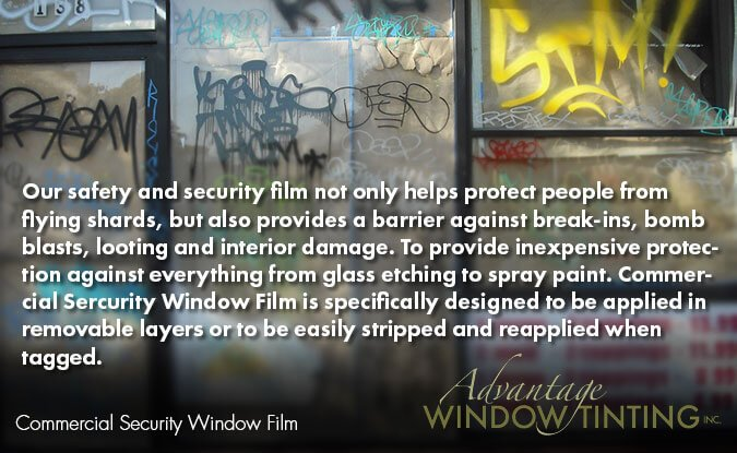 Chicago window tinting commercial security film
