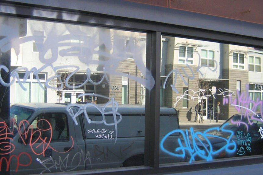 Anti Graffiti Window Film protects