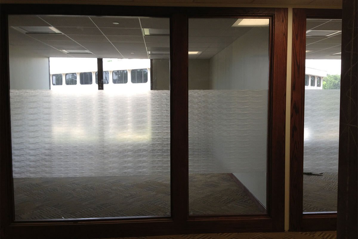 Privacy window tinting office center